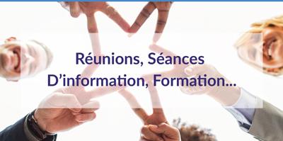 réunions,-des-séances-d'information-et-de-formation